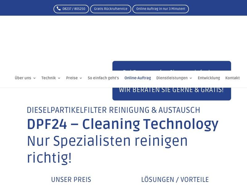 Screenshot von http://www.dpf24.de/